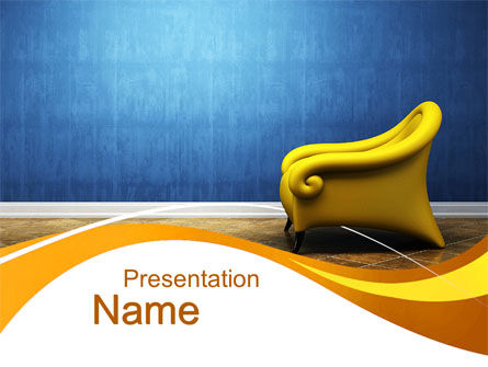 Creative Chair PowerPoint Template, 10448, Careers/Industry — PoweredTemplate.com