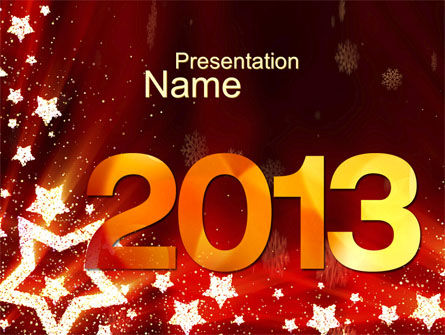 Holiday/Special Occasion: 2013 PowerPoint Template #10450