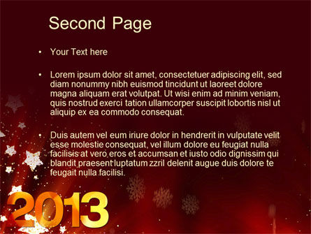 2013 PowerPoint Template, Slide 2, 10450, Holiday/Special Occasion — PoweredTemplate.com