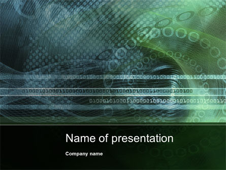 Binary Abstract PowerPoint Template, 10452, Abstract/Textures — PoweredTemplate.com