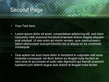 Binary Abstract PowerPoint Template Slide 2