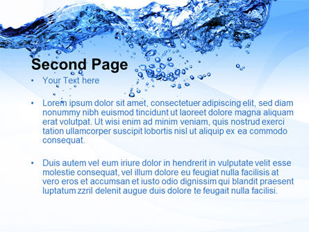 Crystal Water PowerPoint Template, Slide 2, 10453, Nature & Environment — PoweredTemplate.com