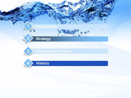 Crystal Water PowerPoint Template, Slide 3, 10453, Nature & Environment — PoweredTemplate.com