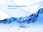 Nature & Environment: Crystal Water PowerPoint Template #10453