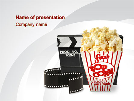 Film Entertainment PowerPoint Template, 10454, Careers/Industry — PoweredTemplate.com