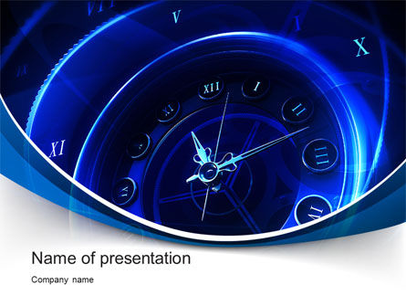 Business: Old Style Clock Face PowerPoint Template #10455
