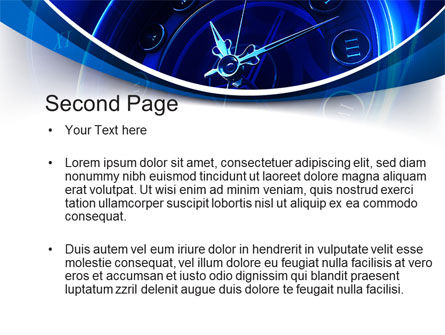 Old Style Clock Face PowerPoint Template Slide 2