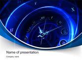 Business: Modello PowerPoint - Quadrante di orologio vecchio stile #10455