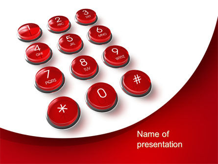 Telecommunication: Phone Buttons PowerPoint Template #10456