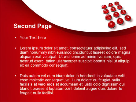 Phone Buttons PowerPoint Template, Slide 2, 10456, Telecommunication — PoweredTemplate.com