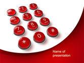 Telecommunication: Phone Buttons PowerPoint Template #10456