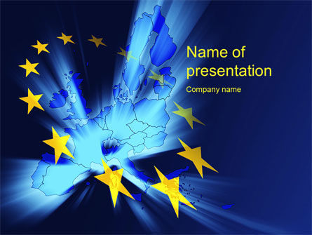 Flags/International: United Europe PowerPoint Template #10459