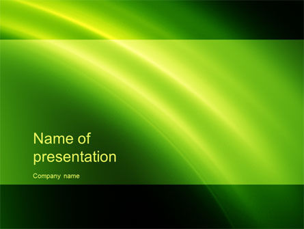 Abstract/Textures: Green Arc PowerPoint Template #10460