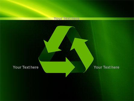 Green Arc PowerPoint Template Slide 10
