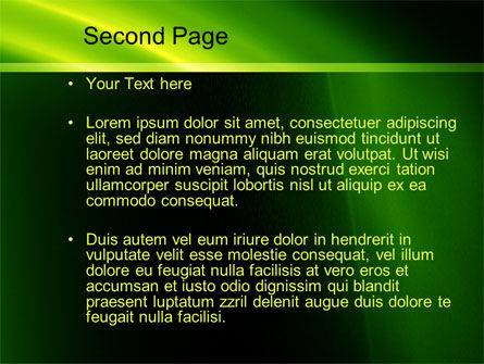 Green Arc PowerPoint Template Slide 2