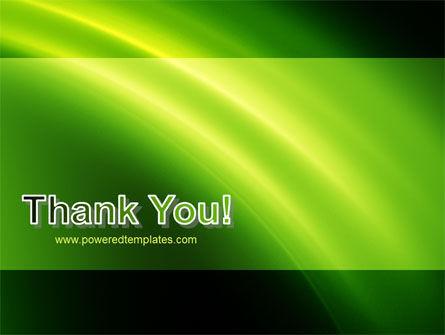 Green Arc PowerPoint Template Slide 20