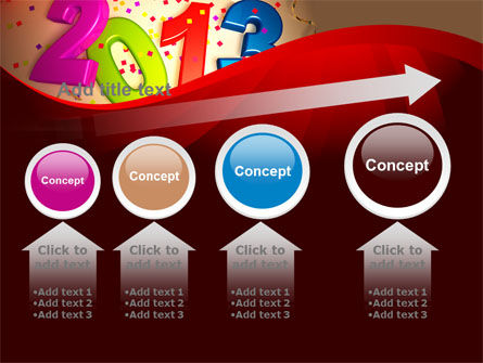 2013 and Confetti PowerPoint Template Slide 13