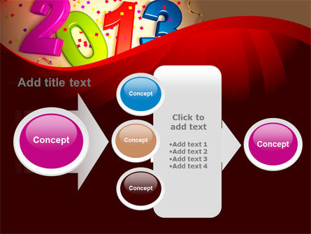 2013 and Confetti PowerPoint Template Slide 17
