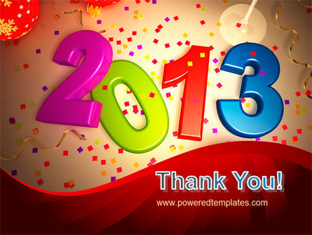 2013 and Confetti PowerPoint Template Slide 20