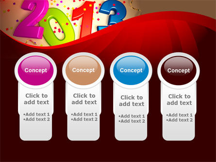 2013 and Confetti PowerPoint Template Slide 5