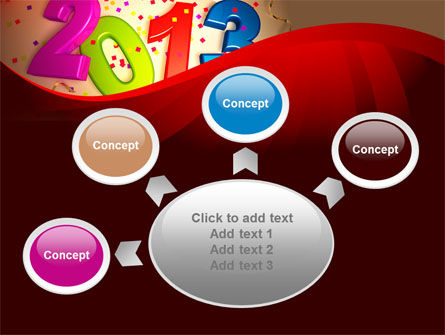 2013 and Confetti PowerPoint Template Slide 7
