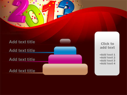 2013 and Confetti PowerPoint Template Slide 8