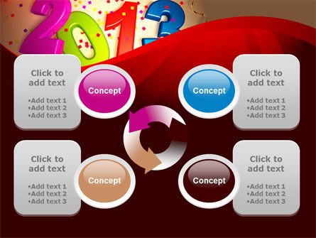 2013 and Confetti PowerPoint Template Slide 9
