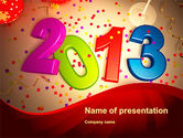Holiday/Special Occasion: 2013 and Confetti PowerPoint Template #10461