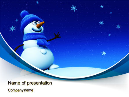 Jolly Snowman PowerPoint Template, 10465, Holiday/Special Occasion — PoweredTemplate.com