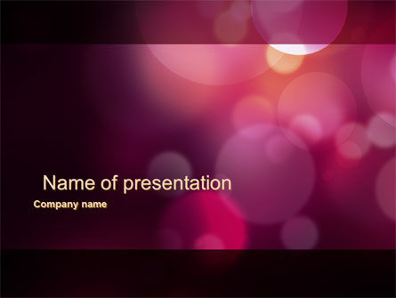 Purple Spots PowerPoint Template