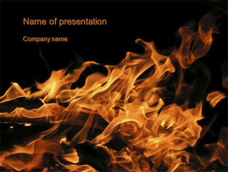Flame Spurts PowerPoint Template, 10467, Nature & Environment — PoweredTemplate.com