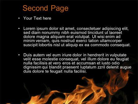 Flame Spurts PowerPoint Template, Slide 2, 10467, Nature & Environment — PoweredTemplate.com