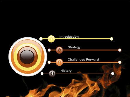 Flame Spurts PowerPoint Template, Slide 3, 10467, Nature & Environment — PoweredTemplate.com