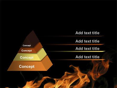 Flame Spurts PowerPoint Template, Slide 4, 10467, Nature & Environment — PoweredTemplate.com