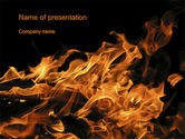 Nature & Environment: Flame Spurts PowerPoint Template #10467