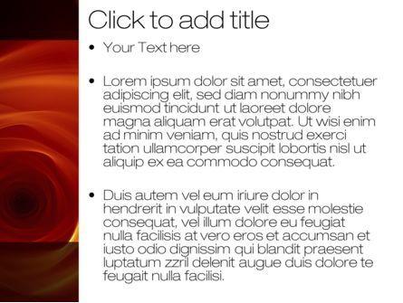 Red Whirlpool PowerPoint Template, Slide 3, 10469, Abstract/Textures — PoweredTemplate.com