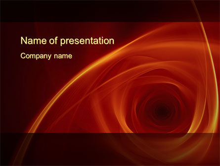 Abstract/Textures: Red Whirlpool PowerPoint Template #10469
