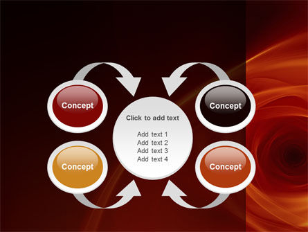 Red Whirlpool PowerPoint Template Slide 6