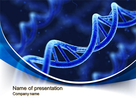 D Dna Powerpoint Template Backgrounds    PoweredtemplateCom