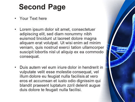 3D DNA PowerPoint Template, Slide 2, 10471, Technology and Science — PoweredTemplate.com