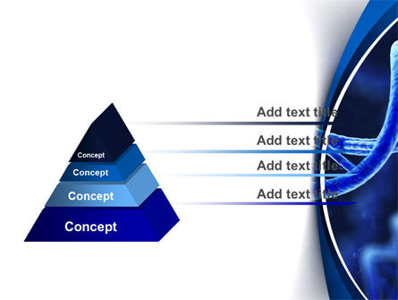 3D DNA PowerPoint Template, Slide 4, 10471, Technology and Science — PoweredTemplate.com