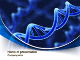 Technology and Science: 3D DNA PowerPoint Template #10471