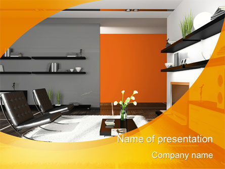 home interior design powerpoint template, backgrounds | 10472, Powerpoint templates