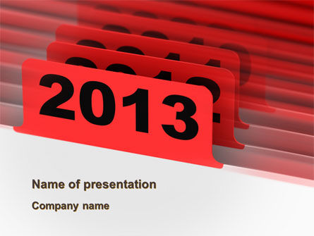 Business Concepts: 2013 Year's Plan PowerPoint Template #10473