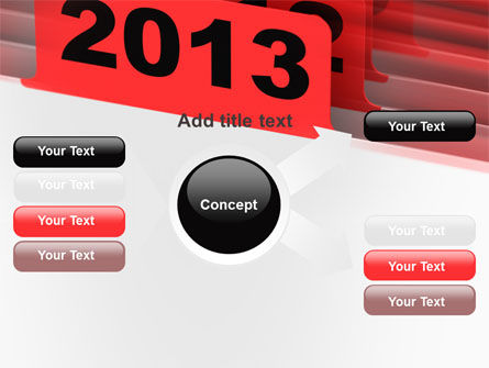 2013 Year's Plan PowerPoint Template Slide 14