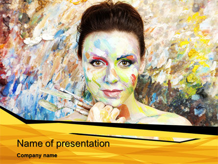 People: Painter PowerPoint Template #10477