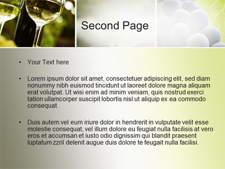 Aperitif PowerPoint Template, Slide 2, 10478, Food & Beverage — PoweredTemplate.com
