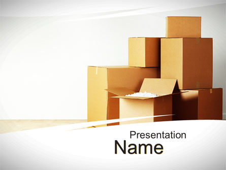 Careers/Industry: Moving PowerPoint Template #10480