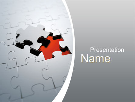 The Last Piece PowerPoint Template, 10481, Business Concepts — PoweredTemplate.com
