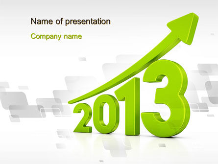 2013 Growth PowerPoint Template, 10482, Business Concepts — PoweredTemplate.com